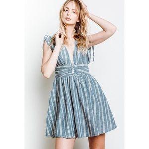 Free People Roll the Dice Mini Dress